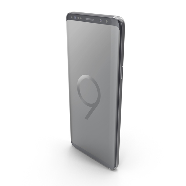 Smartphone: Samsung Galaxy S9 Plus Titanium Gray PNG & PSD Images