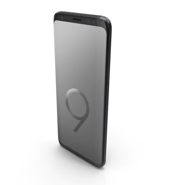 Smartphone: Samsung Galaxy S9 Titanium Gray PNG & PSD Images