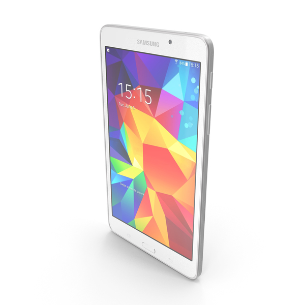 Samsung Galaxy Tab 4 7.0, 3G and LTE White PNG & PSD Images