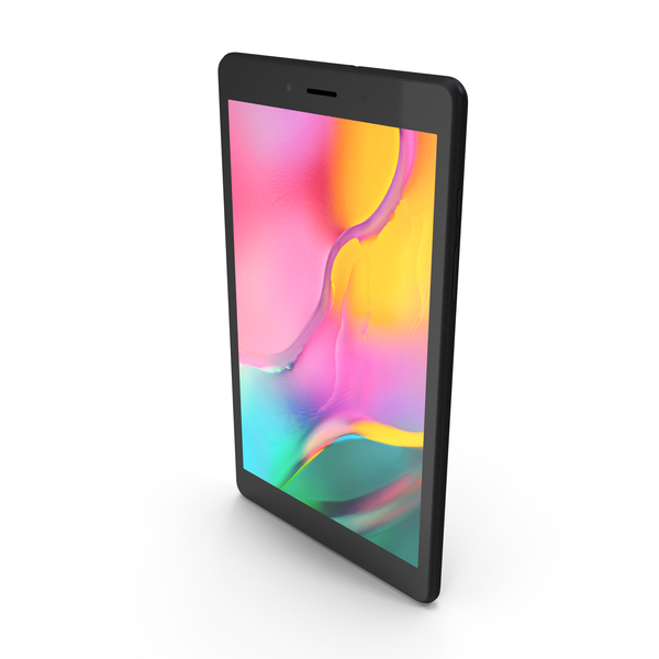 Samsung Galaxy Tab A 8.0 2019 (Wifi & LTE) Black PNG & PSD Images