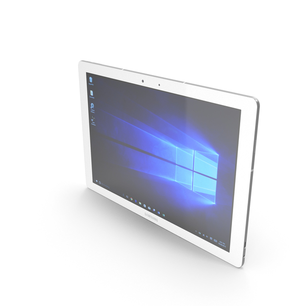 Tablet Computer: Samsung Galaxy Tab Pro S White PNG & PSD Images