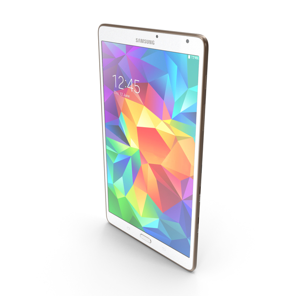 Samsung Galaxy Tab S 8.4 & LTE Dazzling White PNG & PSD Images