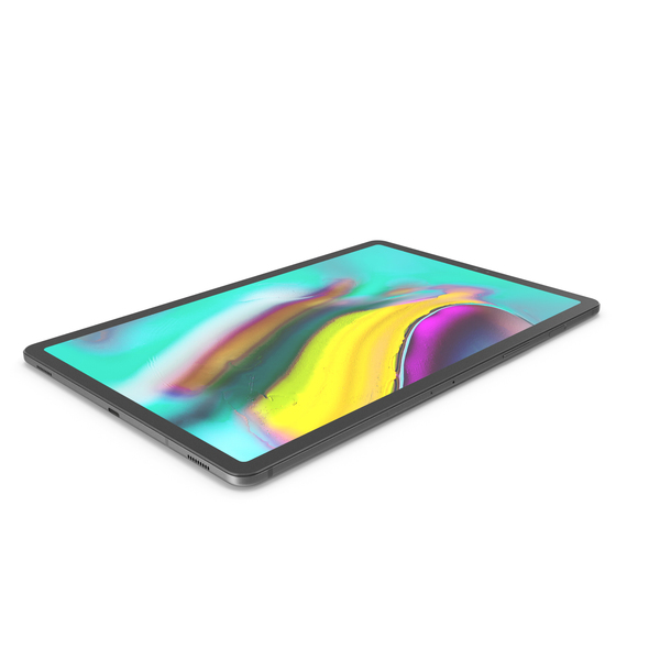 Samsung Galaxy Tab S5e Black PNG & PSD Images