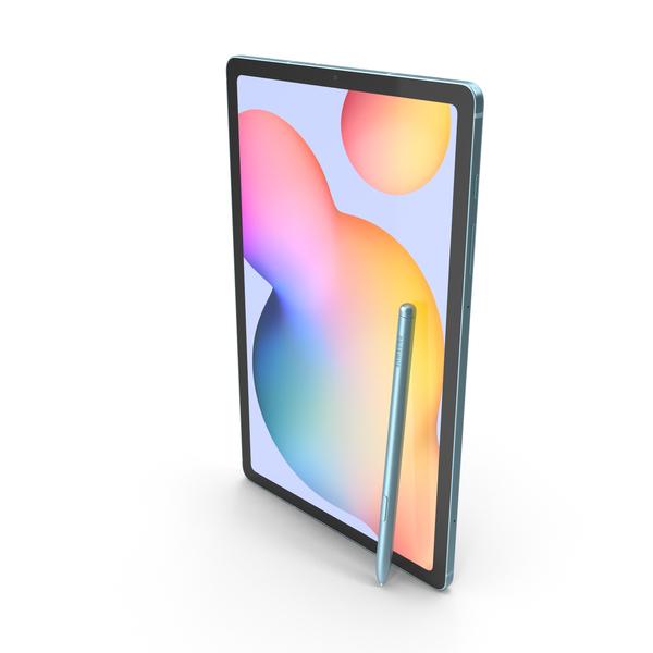 Samsung Galaxy Tab S6 Lite Angora Blue PNG & PSD Images