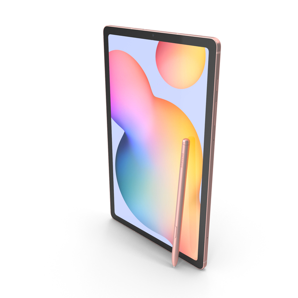 Tablet Computer: Samsung Galaxy Tab S6 Lite Chiffon Pink PNG & PSD Images