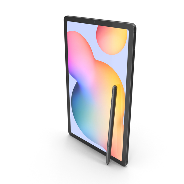 Samsung Galaxy Tab S6 Lite Oxford Gray PNG & PSD Images