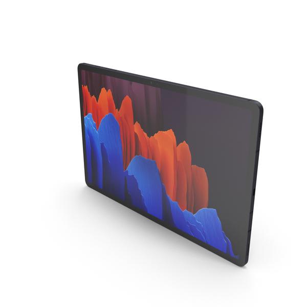 Samsung Galaxy Tab S7 Plus Black PNG & PSD Images