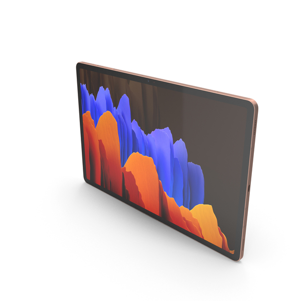 Samsung Galaxy Tab S7 Plus Bronze PNG & PSD Images