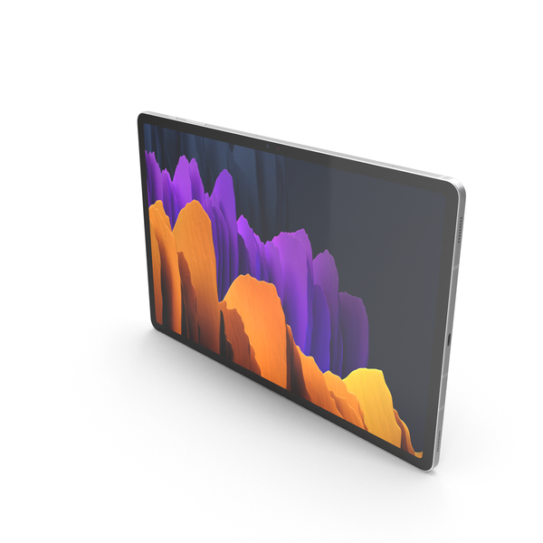 Samsung Galaxy Tab S7 Plus Silver PNG & PSD Images