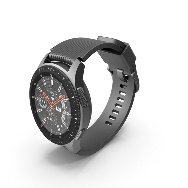Samsung Galaxy Watch 46mm Silver 2018 PNG & PSD Images