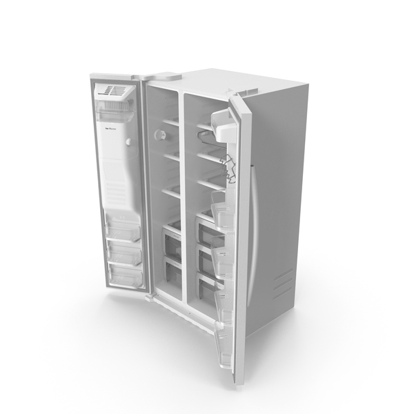 Samsung Side By Side Refrigerator Open PNG & PSD Images