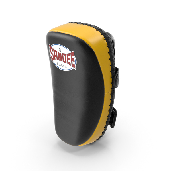 Sandee Curved Thai Leather Kick Pads PNG & PSD Images