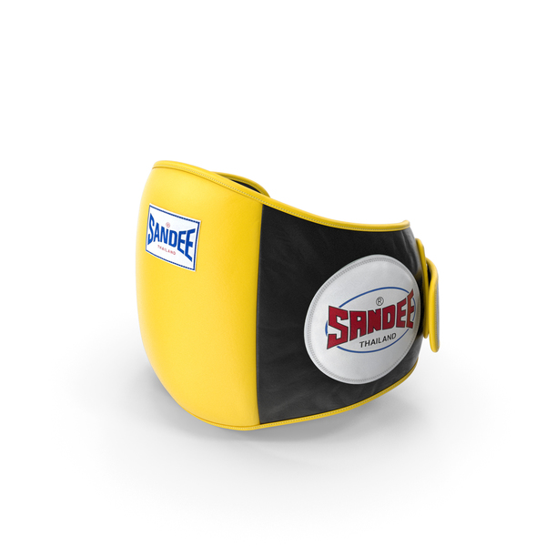 Sandee Velcro Belly Pad Maneken Black Yellow PNG & PSD Images