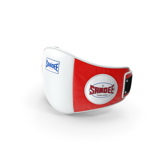 Sandee Velcro Belly Pad White Red PNG & PSD Images