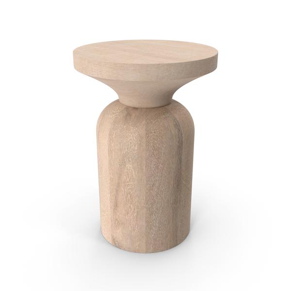Sandstone Side Table PNG & PSD Images