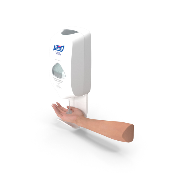 Sanitizer Dispenser with Hand PNG & PSD Images