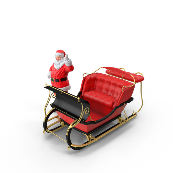 Christmas: Santa and Sleigh PNG & PSD Images
