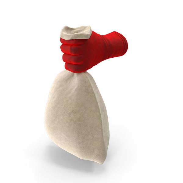 Hand: Santa Holding a Bag PNG & PSD Images