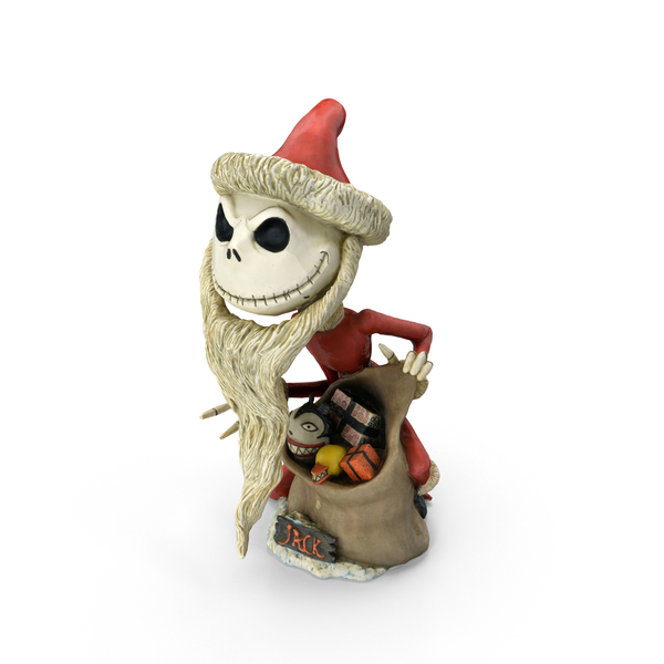 Characters: Santa Jack Skellington Figurine PNG & PSD Images