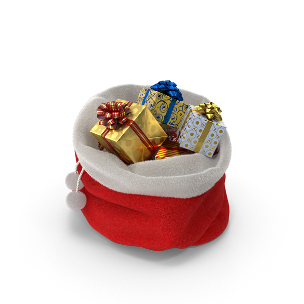 Santa: Santa's Bag with Gifts PNG & PSD Images
