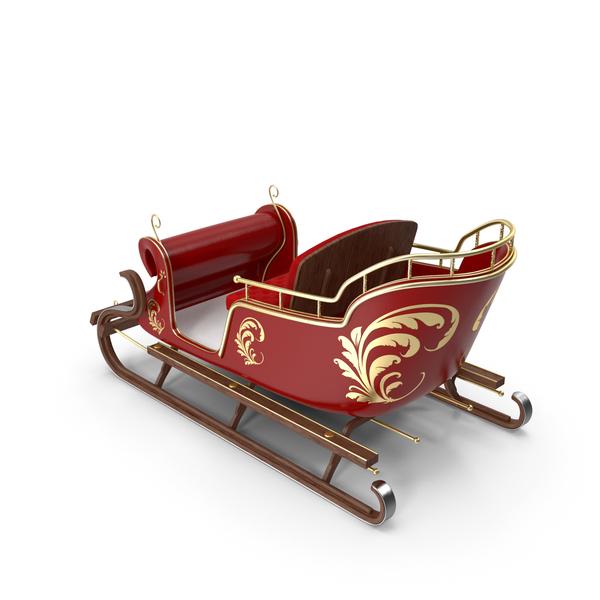 Christmas: Santa Sleigh PNG & PSD Images