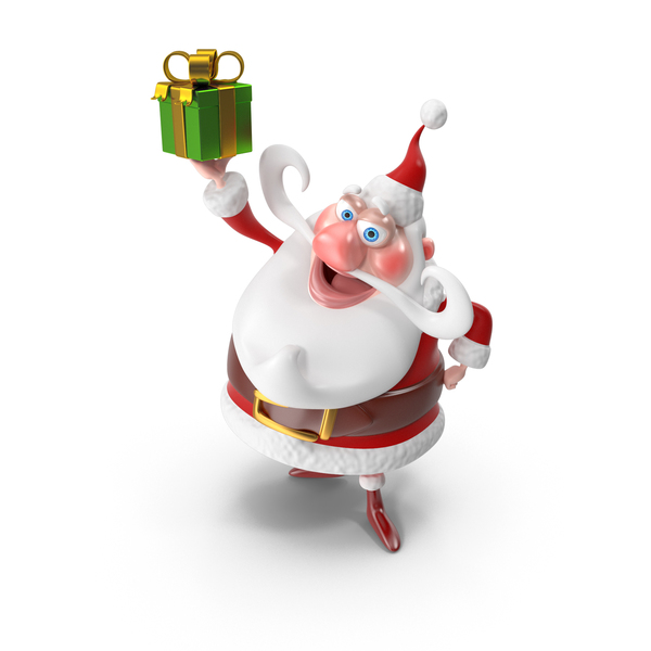 Santa with Gift PNG & PSD Images