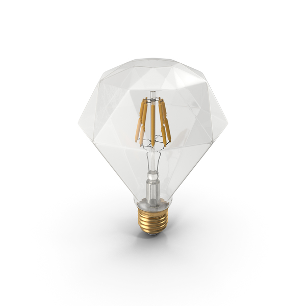 Sapphire Shape Filament LED Light Bulb PNG & PSD Images