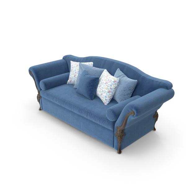 Savio Firmino Blue Luxury Sofa PNG & PSD Images