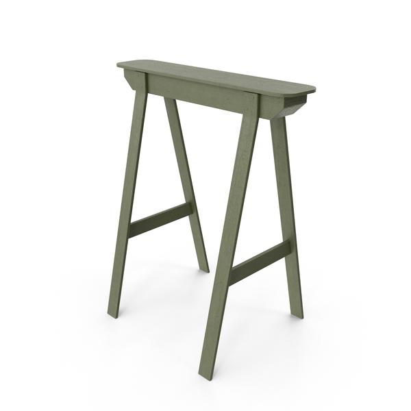End Table: Sawhorse Stand PNG & PSD Images