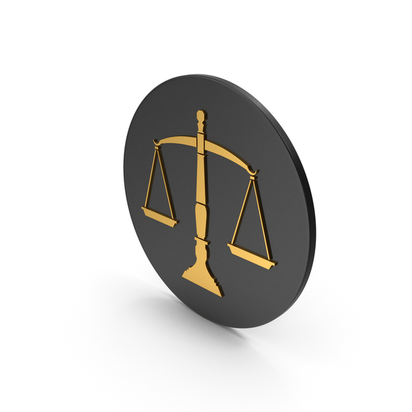 Logo: Scales Of Justice Gold Icon PNG & PSD Images