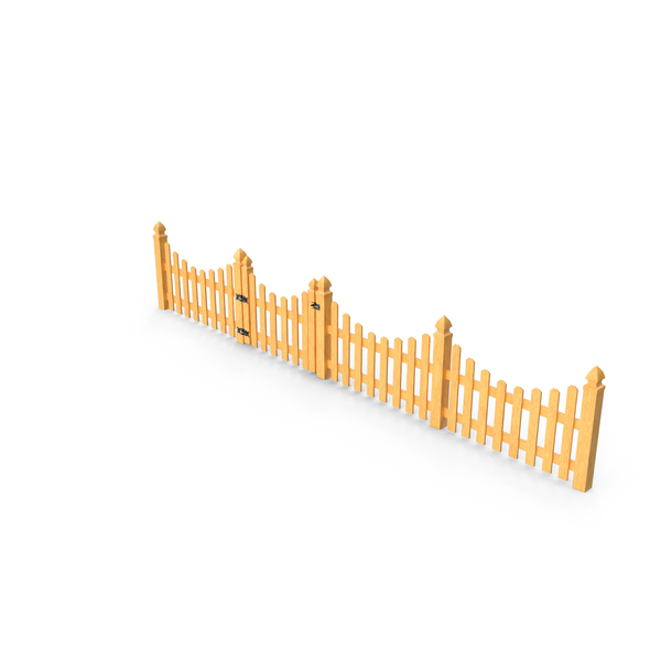 Wooden: Scalloped Fence Section PNG & PSD Images