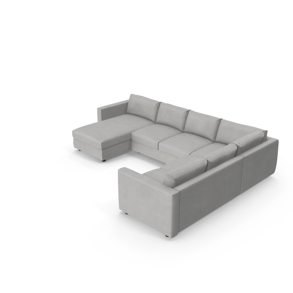 Scandinavian Sectional Sofa PNG & PSD Images