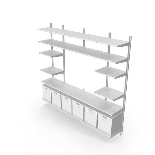 Scandinavian Shelving System PNG & PSD Images