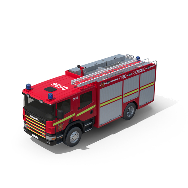 Engine: Scania Fire Truck PNG & PSD Images