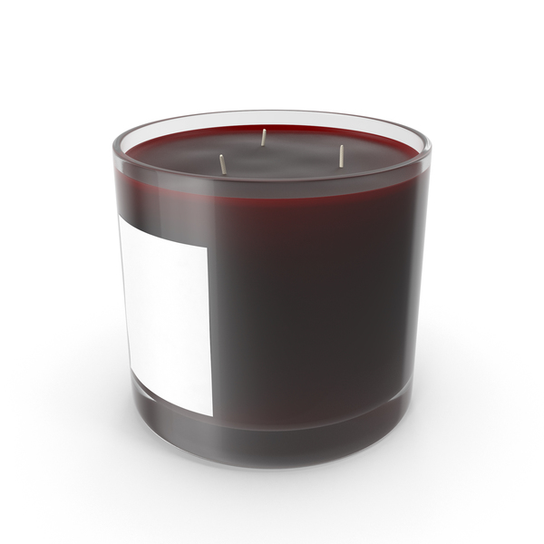 Scented Candle Big Glass Cherry PNG & PSD Images