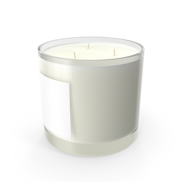 Scented Candle Big Glass White PNG & PSD Images