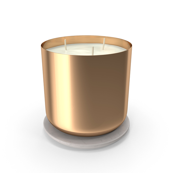 Scented Candle Big Metal Gold PNG & PSD Images