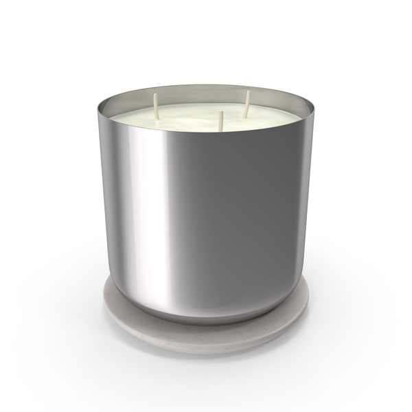 Scented Candle Big Metal Silver PNG & PSD Images