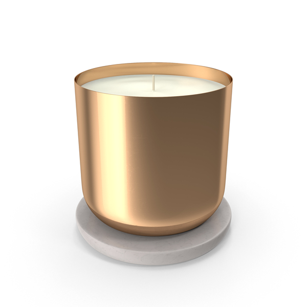 Scented Candle Small Metal Gold PNG & PSD Images