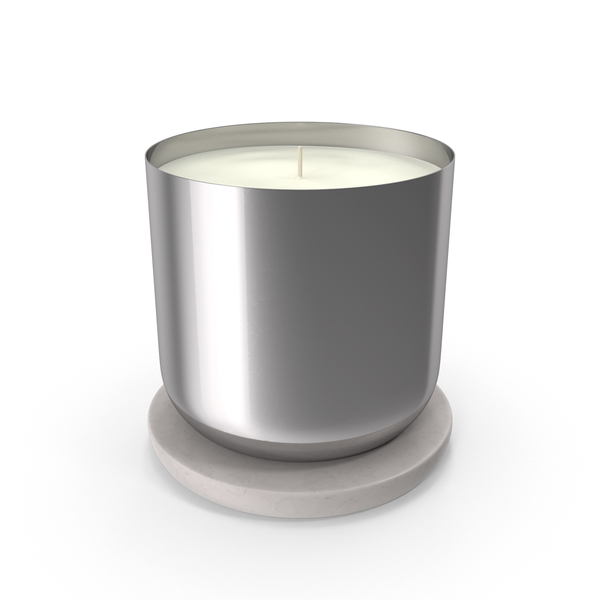 Scented Candle Small Metal Silver PNG & PSD Images