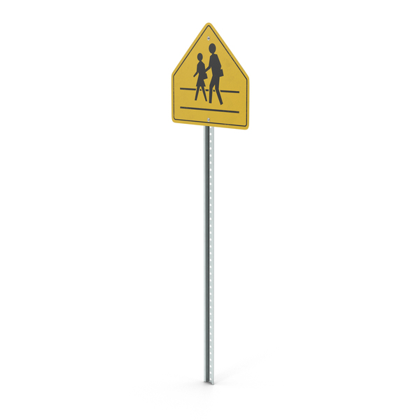 School Crossing Sign PNG & PSD Images