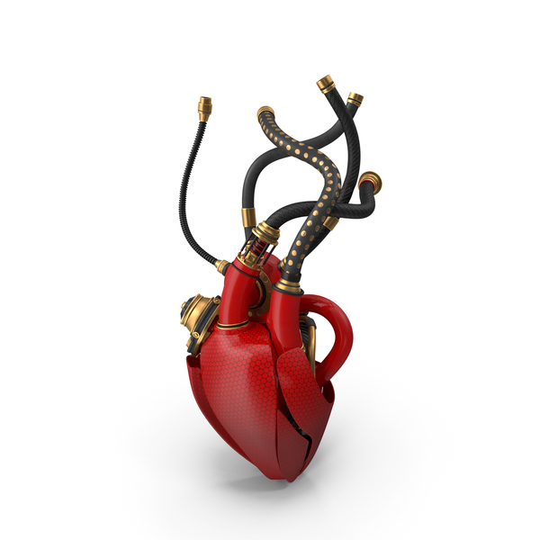 Sci-Fi Artificial Cyber Heart PNG & PSD Images