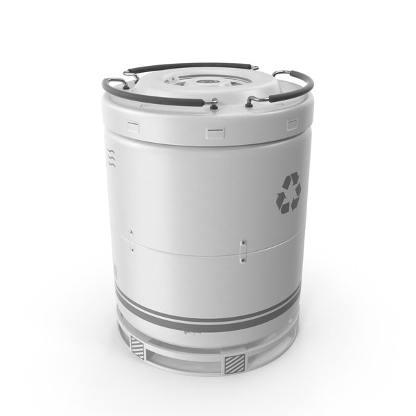 Science Fiction Device: Sci-Fi Barrel White PNG & PSD Images