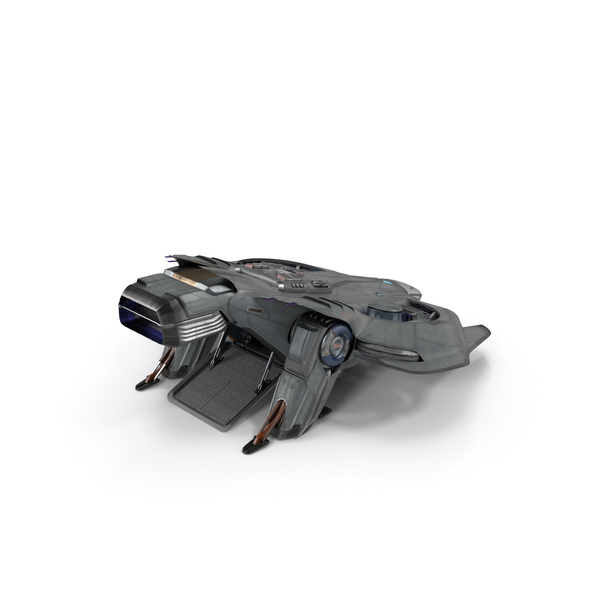 Sci Fi Dropship Landing Position PNG & PSD Images