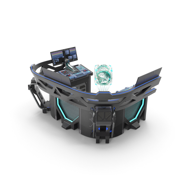 Science Fiction Device: Sci Fi Hologram Control Panel PNG & PSD Images