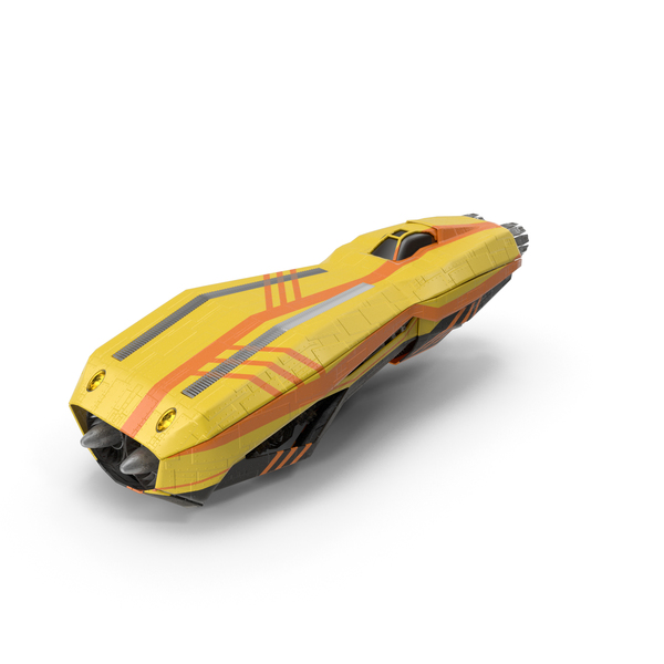 Fictional Automobile: Sci Fi Hover Speeder PNG & PSD Images