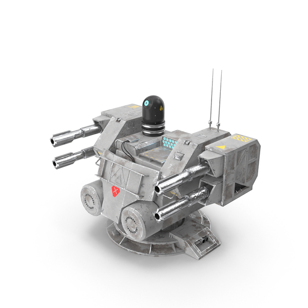 Sci-fi Turret PNG & PSD Images