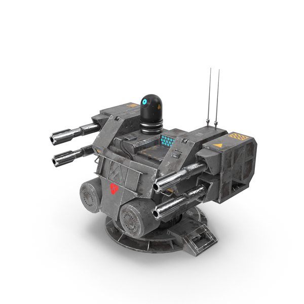Science Fiction Cannon: Sci-Fi Turret PNG & PSD Images
