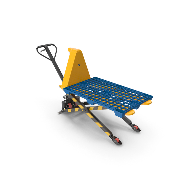 Jack: Scissor Pallet Truck with Plastic Tray PNG & PSD Images