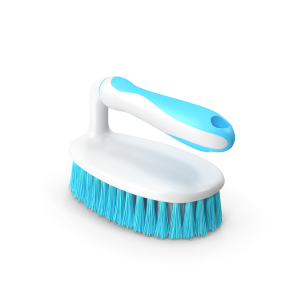 Cleaning: Scrub Brush with Grip Handle PNG & PSD Images
